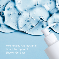 MOISTURIZING ANTI-BACTERIAL LIQUID TRANSPARENT SHOWER GEL BASE color cosmetic ingredients, gmp, oem, soap base, oils, natural, melt & pour