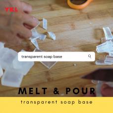 [1kg] TRANSPARENT SOAP BASE color cosmetic ingredients, gmp, oem, soap base, oils, natural, melt & pour