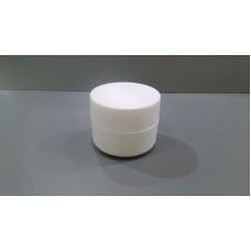 CJ013 - CREAM JAR (W/W-E) 10G color cosmetic ingredients, gmp, oem, soap base, oils, natural, melt & pour